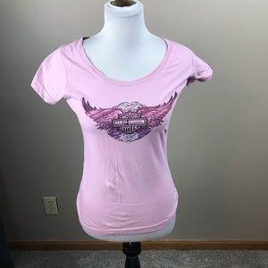 Harley Davidson Pink Short Sleeve Tee